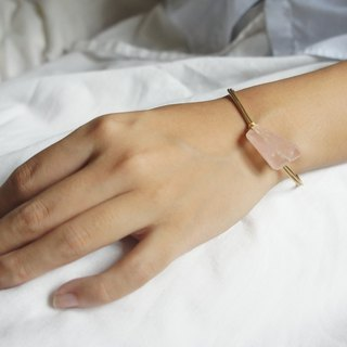 Hanami - Rose Quartz Bangle (Copper Wire)