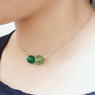 Green Agate August Birthstone Diffuser Necklace Rose Gold S925