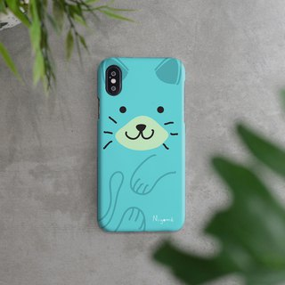 iphone case soft blue cute cat for iphone5s,6s,6s plus, 7,7+, 8, 8+,iphone x