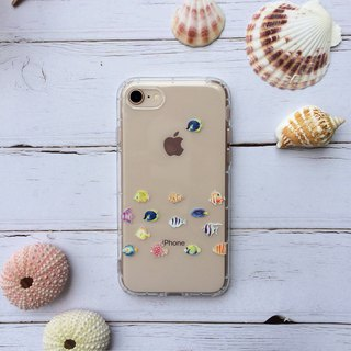 Tropical fish espresso phone case