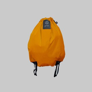 groin waterproof bag - back section (L) - Limited models - models flocking Ming yellow canvas