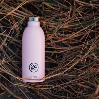 New 24Bottles - Clima Bottle Candy Pink (500ml) - Stainless Steel Water Bottle - 24 hours for ice and 12 hours for insulation