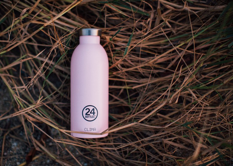Italy 24Bottles【CLIMA Hot and Cold Insulation Series】Sakura Red-500ml Stainless Steel Bottle