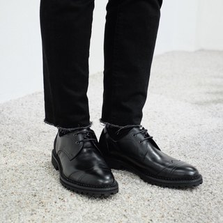 Black patchwork wingtips