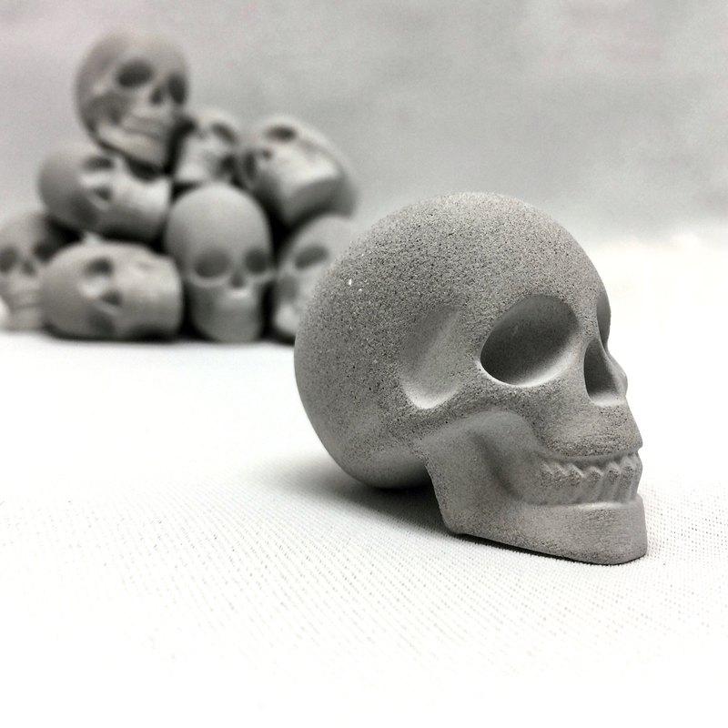 水泥骷髏頭(3入一組)/擴香石/擺飾