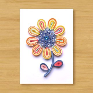 Handmade Roll Paper Card _ Flower_C2 ... Mother Card, Valentine Card