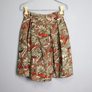 FOAK vintage flower fruit leaf red green vintage pants skirt