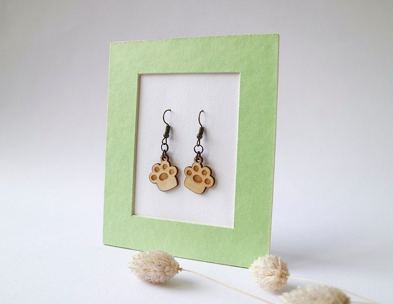 Cute meat ball earrings - ear hook