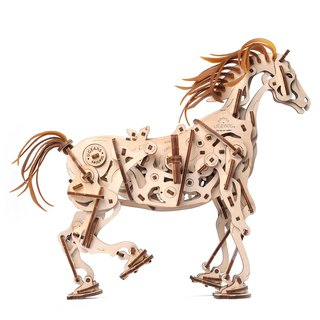 /Ugears/ Mechanical Red Rabbit Horse Horse-Mechanoid