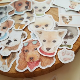 Fairy pills hand-painted dog stickers (one can choose a combination of 30 dogs)