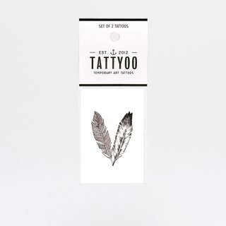 FEATHERS tattoos sticker | TATTYOO