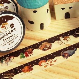 afu illustration paper tape | forest visitors | elf articles | Japan and the paper tape | RT in Japan
