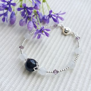 Dark Purple Agate Bracelet in Elegant Style