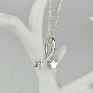 Sterling Silver Comet Necklace
