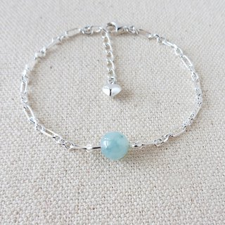 Sterling Silver**[Fortune Stone] Glowing Ice Hibiscus Blooming Jade Bracelet***Fine Chain*[Lucky]