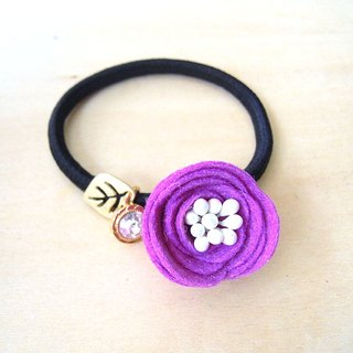 RARAPUPU flowers hair circle purple