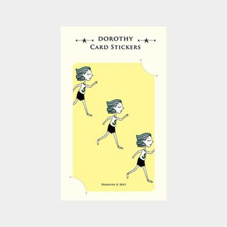 Dorothy ticket waterproof stickers - Running girl (9AAAU0018)