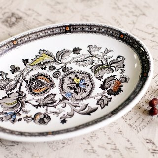 Good day [fetish] Ridgway Ironstone / VINTAGE / oval ceramic dish