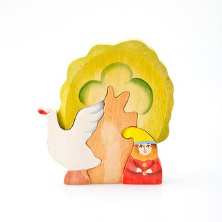Goody Bag - Russian Building Blocks - Beech Fairy - 3D Puzzle Series: Goblin and Swan