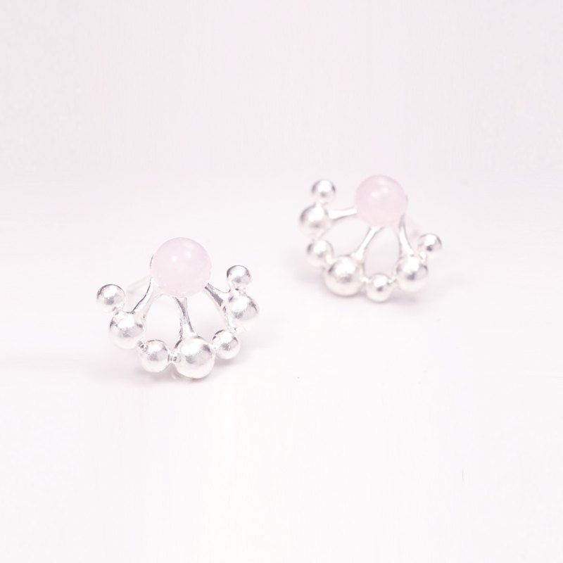 Small Garden Series - Dandelion Earrings (Pink Crystal)