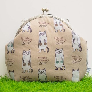 Cats in winter/Metal pockets/retro messenger bag