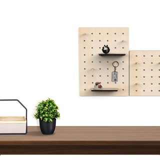 I ** exclusive orders large size industrial style mini hole plate - storage / rack / wall / wood / tool wall