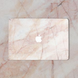 Original Light Red  Marble Macbook Label Protector