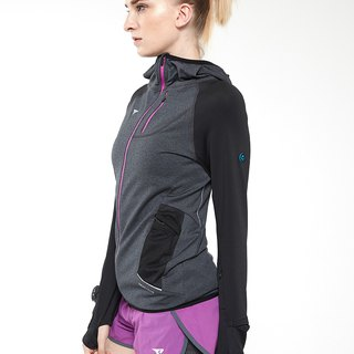 【SUPERACE】WOMEN'S RUNNING SWEAT JKT 2.0 / BLACK