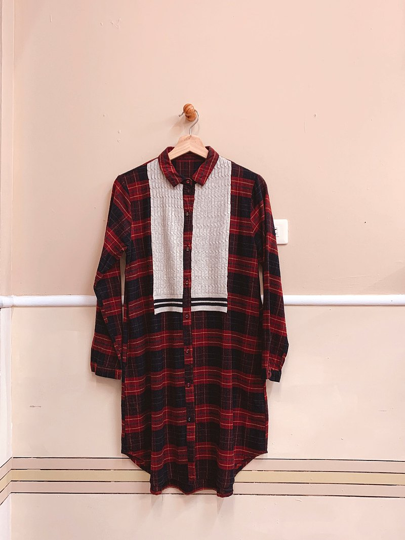 French long plaid shirt, comfortable fabric, light and warm, fast shipping
