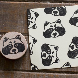 Friends of the forest series of small raccoon carved seal engraved rubber stamps