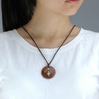 Wooden Aether necklace Wood Pendant