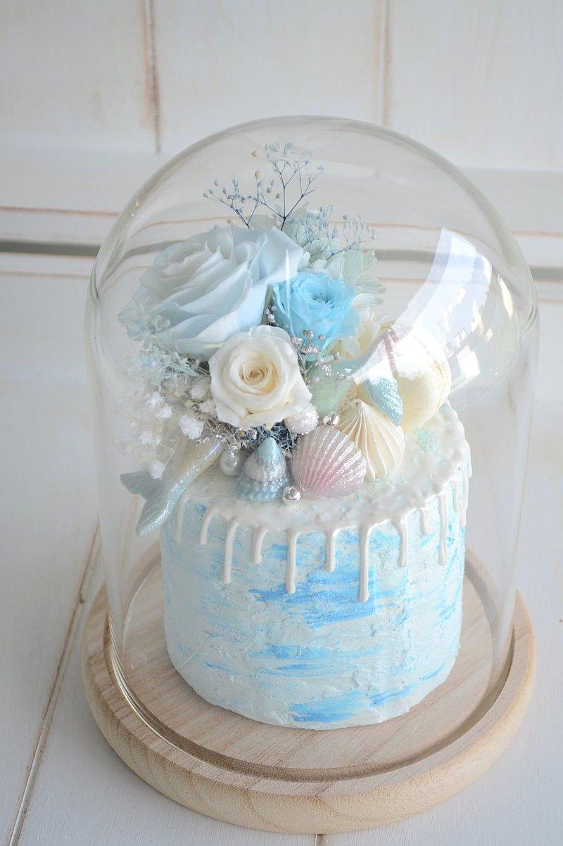 仿真.珠寶海洋永生花蛋糕花禮 / 生日蛋糕 / 母親節蛋糕 /