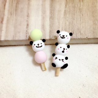 QQ panda small group of earrings group (can change the ear clip) ((600 full of mystery to send a small gift))