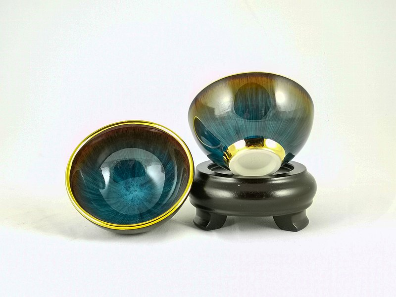 [Dali kiln] The eye of the gilt sea god changes the eye to the cup