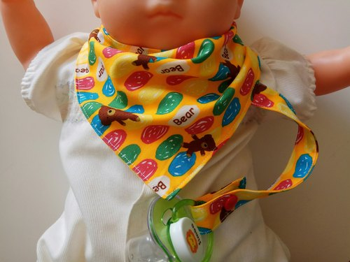 Candy Bear Nipple With Triangle Bibs Monthly Gift Saliva Bags Baby Bibs Papier Chains