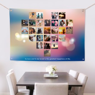 Customized photo cloth romantic deep sea blue