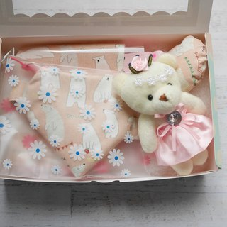 Bear with the moon gift box pacifier pacifier pouch Bear doll