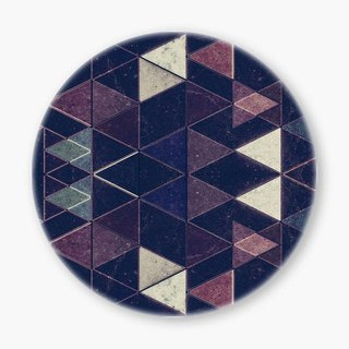 Snupped Ceramic Coaster - Triangles XXVI