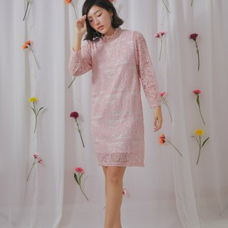 Lady lace dress (pink)