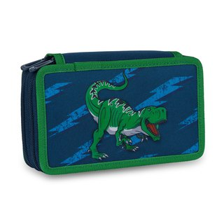 Tiger Family Little Knight Multifunctional Double Creative Stationery Bag - Cosmic Dinosaur