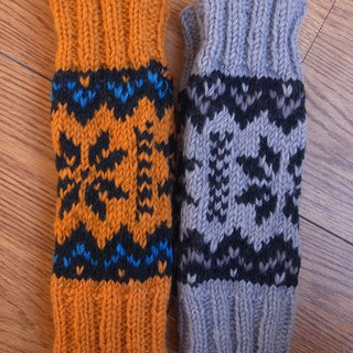 Wool Canadian Colorful Legwarmers Snowflake