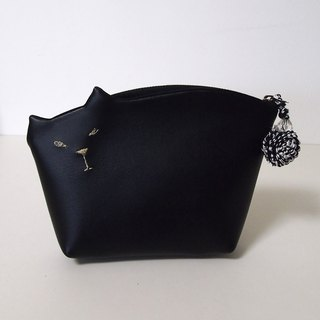 Kittenko pouch 010 No. mat-black 【Make-to-order production】