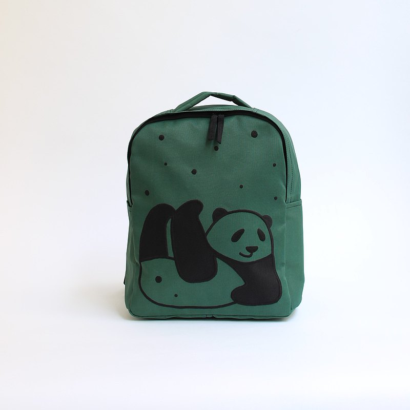 Panda embroidery and rucksack