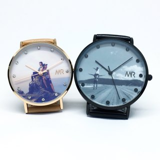 Christmas gift promotion - custom crystal stone photo watch