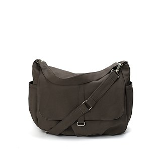 Canvas Messenger bag , Gray Shoulder bag , Travel bag , diaper bag -no.18 DANIEL