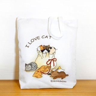 Cat in the bag - zipper tote bag