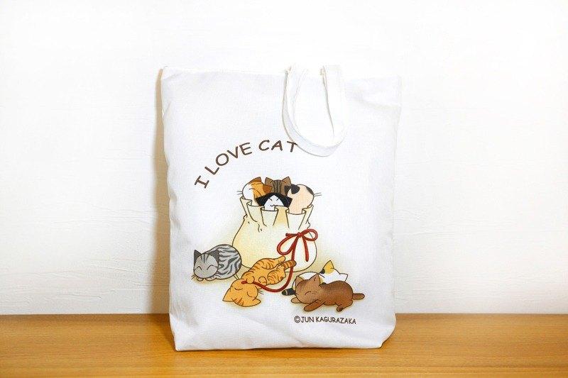 袋子裡的貓咪-拉鍊托特包