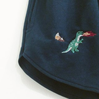 dinosaur embroidery shorts