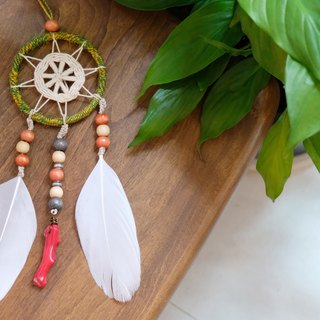 Handmade Dreamcatcher - Red Coral