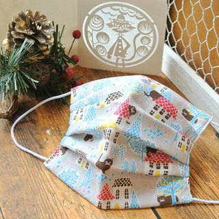 For cat lovers | handmade mask Brick house × Cats Gray | Japan manufacturing